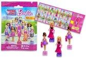 Setje van 2 Barbie MegaBloks blindbag met speelfiguurtje