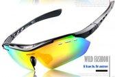 Fietsbril Polarized Inclusief 6 Lezen (Zwart)