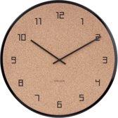 Wall clock Modest Cork black,Des.Armando Breeveld