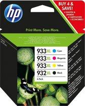 HP 932XL / 933XL - C2P42AE Inktcartridge / Zwart / Kleur / Hoge Capaciteit / 4-Pack