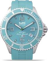 Tutti Milano TMOG001TU- Horloge -  48 mm - Turquoise - Collectie Oceano Grande