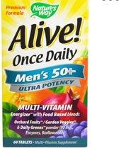 Alive! Een Per Dag Multivitamine, Mannen 50+, Hoge Dosering (60 tabletten) - Nature's Way