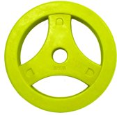 Tunturi Aerobic Halterschijf - Halter gewichten- 1 x 5 kg - Ø 30 mm - Geel