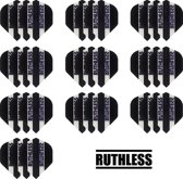 deDartshop 10 Sets (30 stuks) Ruthless flights Multipack - Zwart - darts flights