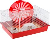 Ferplast Coney Island Hamsterkooi - Rood - 50 x 35 x 25 cm