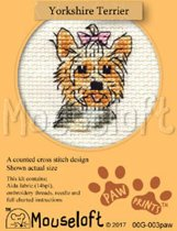 Mini Borduurpakketje Hond - Yorkshire Terrier - Mouseloft