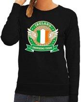 Zwart Ireland drinking team sweater dames L