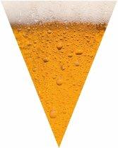 Oktoberfest - Bier print vlaggenlijn / slinger 6,4 meter - bierfeest versiering