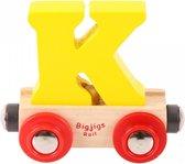 Bigjigs - Rails - Naamtrein - Letter K - Oranje