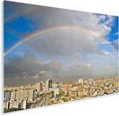 Prachtige regenboog boven Dhaka Plexiglas 60x40 cm - Foto print op Glas (Plexiglas wanddecoratie)