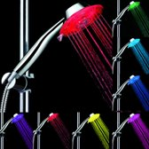 Waterbesparende Douchekop – LED douchekop – ABS - Chrome – ø 11,3cm - Handdouche – LED shower