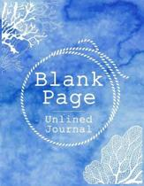 Blank Page Unlined Journal