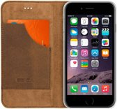 Senza - iPhone 6 / 6s Hoesje - Book Case Raw Seriess Licht Bruin