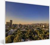 Foto in lijst - Helder blauwe hemel boven Mexico-stad fotolijst wit 40x30 cm - Poster in lijst (Wanddecoratie woonkamer / slaapkamer)