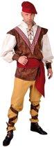 Middeleeuwen & Renaissance Kostuum   Onderdanige Middeleeuwse Boer   Man   Medium   Carnaval kostuum   Verkleedkleding