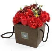 Kunstplanten voor binnen gemaakt van Zeep - Kunstbloemen Boeket - Huis decoratie - Nepbloemen - Moederdag cadeautje - Verjaardagscadeau voor vrouwen - 100% Veganistisch - 100% Dierproefvrij - Paars/Rood/Blauw/Roze