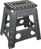 PUHLMANN - JAMES XL foldable stool  GY, Foldable stool  xl/plastic /grey/black