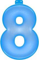 Opblaasbaar Cijfer 8 Blauw