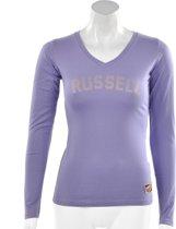 Russell Athletic Deep V - Sportshirt -  Dames - Maat L - Paars