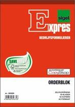 Orderblok Sigel - Expres A5 2x50blz zelfkopierend