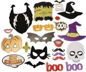 24pcs Halloween Photo Props BOO Pompoen Essence Horror Skull Room Decoration