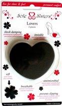 Lovers van Sole Sisters - Schokdempende en ademende kussentjes voor hoge hakken - zwart