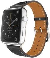 Bandje leer zwart geschikt voor Apple Watch 42-44mm