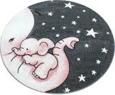 Vloerkleed Kinderkamer - Baby Olifant - Roze
