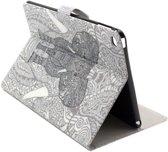 iPad Air 2 (2014) - hoes, cover, case - PU leder - Olifant grijs