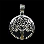 Tree of life hanger 925 zilver - 4 cm - L