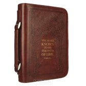 Classic Bible Cover Large Luxleather Path of Life - Psa 16:11