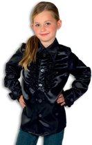 Rouches blouse  zwart voor kids 140