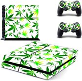 Weed - PlayStation 4 sticker - PS4 wiet console skin bundel