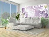Fotobehang Bloemen | Paars | 250x104cm