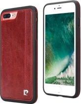 Pierre Cardin Backcover hoesje Rood - Stijlvol - Leer - iPhone 7 en  iPhone 8  - Luxe cover