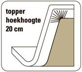 Cevilit Maxima - Topper hoeslaken - donkergrijs  180/200