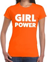 Girl Power tekst t-shirt oranje dames M