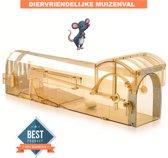 Muizenval Diervriendelijk | Humane muizenval | Muizenval | Verbeterd | Herbruikbaar | Hygiënisch | Duurzaam | Veilig in gebruik