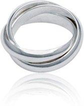 Classics&More Zilveren Ring - Maat 56 - 4 mm - Cartier