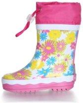 Playshoes Regenlaarzen Kinderen Bloemen - Wit - Maat 22/23