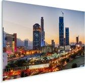 Wolkenkrabbers in het economische centrum Monterrey met een mooie avondschemering Plexiglas 180x120 cm - Foto print op Glas (Plexiglas wanddecoratie) XXL / Groot formaat!