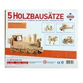 4 3D houten puzzels