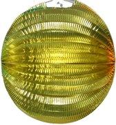 12x Lampion goud rond - 36cm