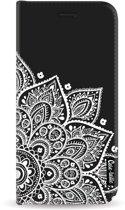 Casetastic Wallet Case Black Samsung Galaxy J6 (2018) - Floral Mandala White