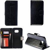 Zwart Bookcase Telefoonhoesje voor de Samsung Galaxy S6