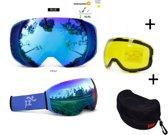 Skibril - EXTRA magnetische lens All bleu frame blauw AX type 5 Cat. 0 tot 4 - ☀/☁