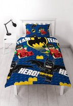 Lego Batman Hero - Dekbedovertrek - Eenpersoons - 135 x 200 cm - Multi