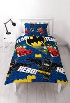 LEGO 404024 Dekbedhoes Batman Team Hero 135x200cm, 74x48cm