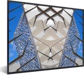 Foto in lijst - Prachtige afbeelding van de Titanic Belfast fotolijst zwart 40x30 cm - Poster in lijst (Wanddecoratie woonkamer / slaapkamer)