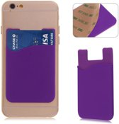 Paarse kaarthouder - Hoesje - Pashouder - Mobiel - Telefoon - voor zowel Apple iPhone als Android Samsung